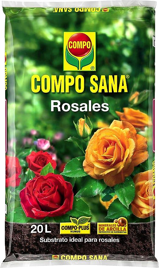Compo Sana Rosales con 8 semanas de abono, Substrato de Cultivo, 20 L, 56x32x8 cm: Amazon.es: Jardín