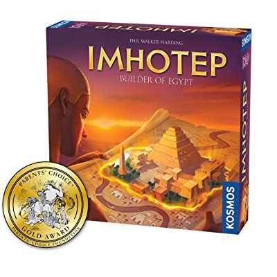 Imhotep Builder of Egypt | Family Board Game by Kosmos | 2-4 Players | Ages 10+ | Toy of The Year Finalist | Parents Choice Gold Award Winner | Toy Insider Top Holiday Toy | Spiel Des Jahres-Nominated: Toys & Games