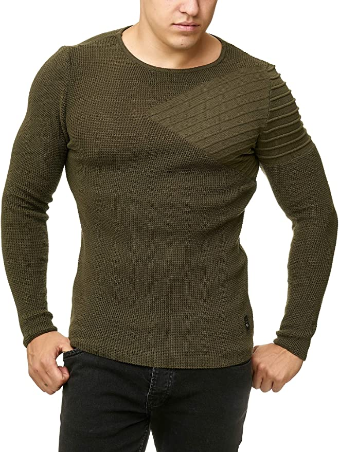 Redbridge Herren Strickpullover Pullover Rollkragen Sweater Designer Fashion