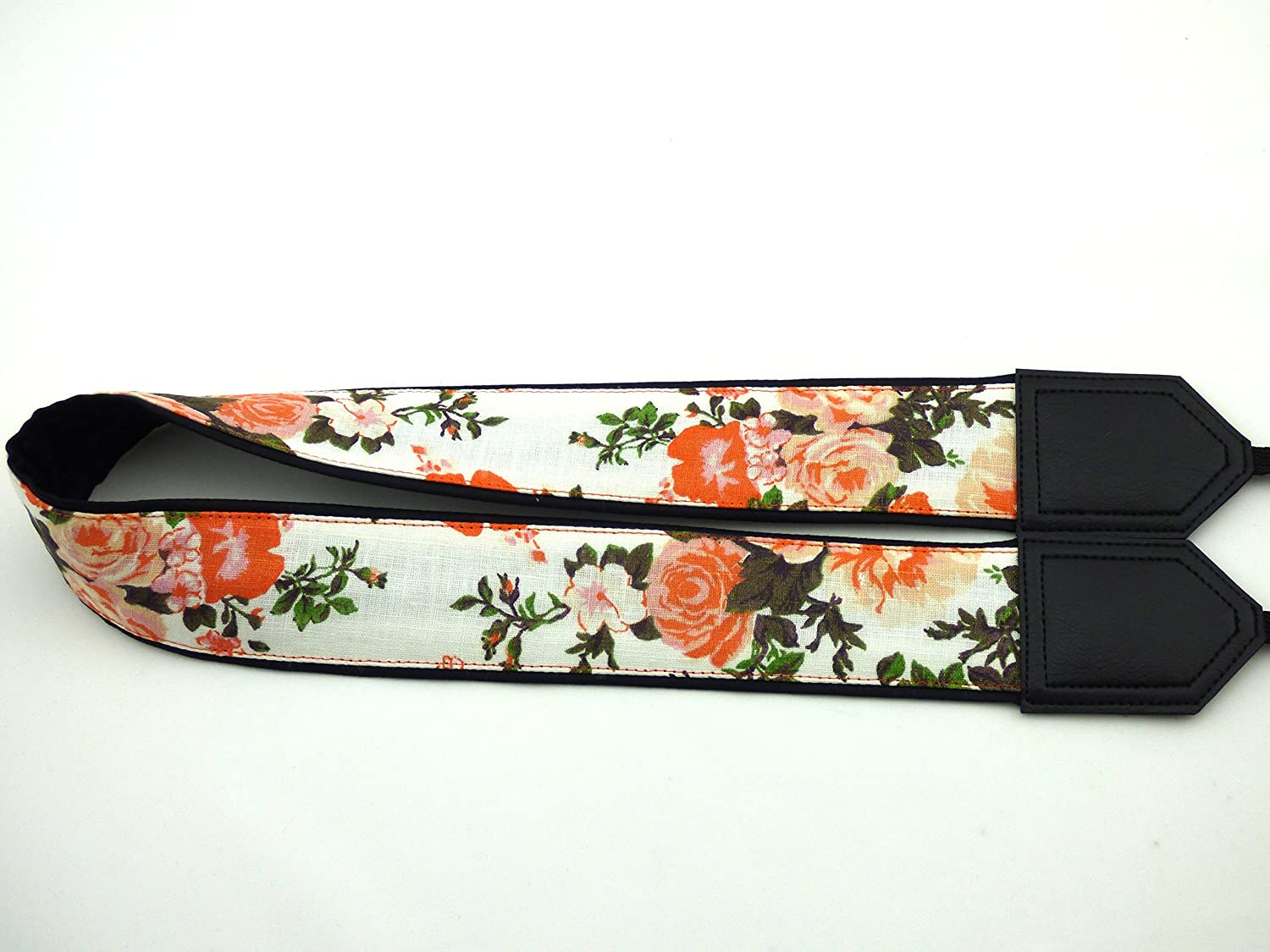 Vintage Botanical Camera Strap Beige Roses Camera Strap DSLR//SLR Black Floral Camera Strap InTePro Flower Camera Strap Light Weight and Well Padded Camera Strap Durable Code 00039