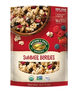 Nature's Path Organic Gluten-Free Granola Cereal, 11 Ounce, Summer Berries, (Pack of 8)