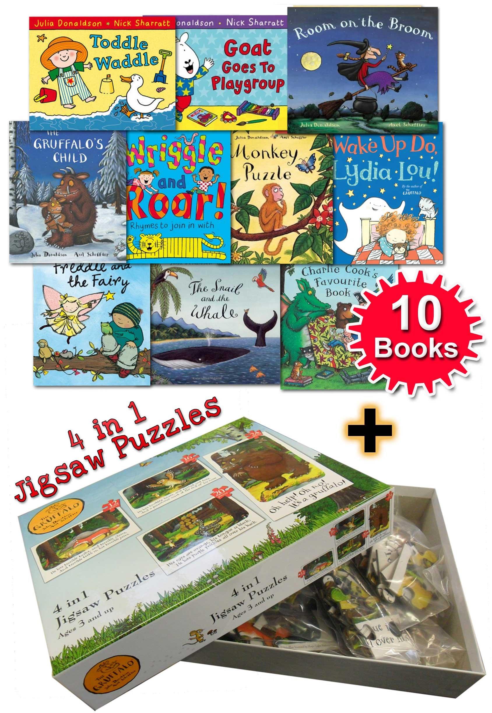 Julia Donaldson Collection 10 Books Set Paul Lamond The Gruffalo 4 in 1 Puzzle: Amazon.es: Julia Donaldson And Paul Lamond: Libros