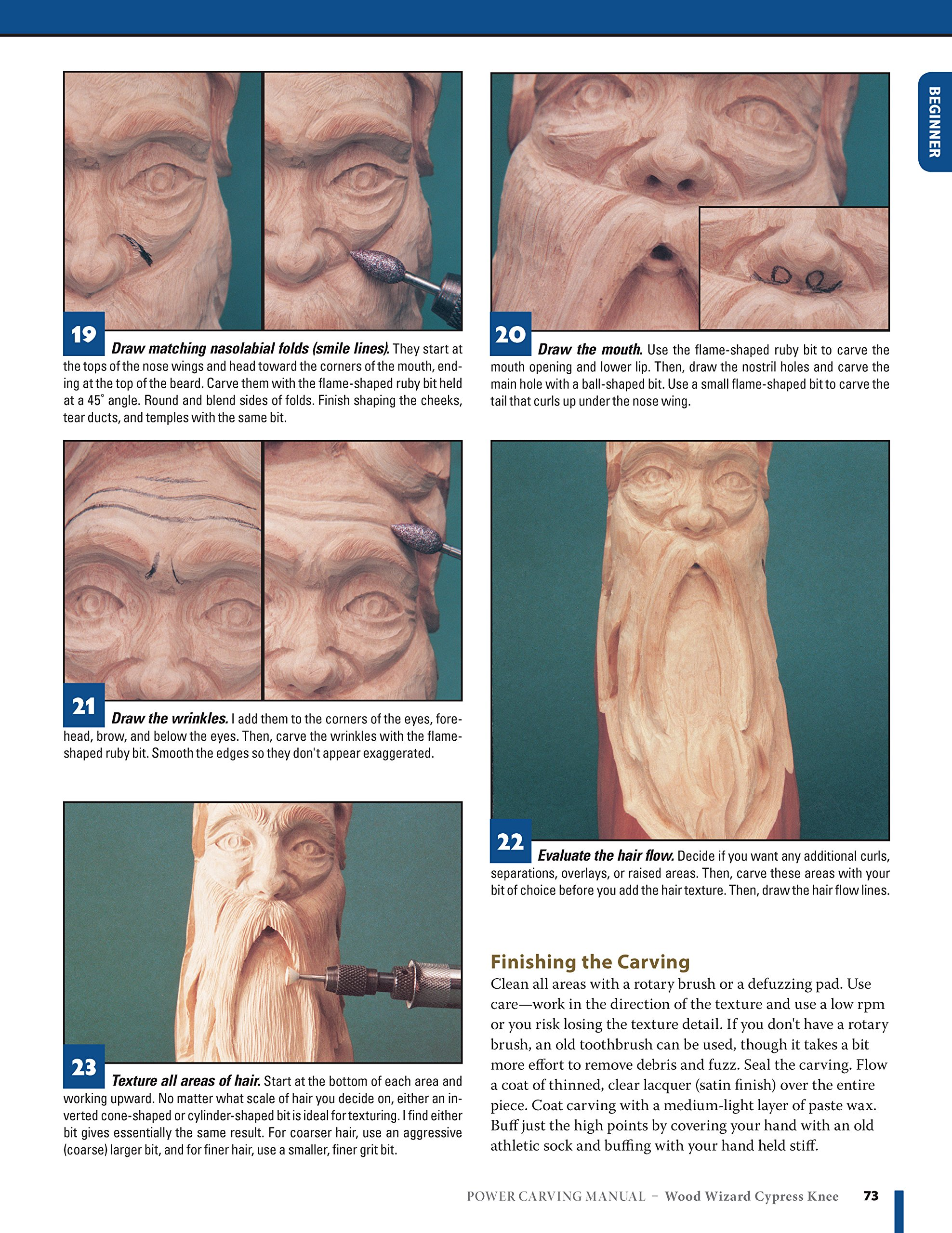 Power Carving Manual, Second Edition: Tools, Techniques, and 22 All-Time  Favorite Projects (Fox Chapel Publishing) Step-by-Step Projects and Photos,  ...