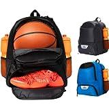 ERANT Basketball Backpack with Ball Compartment – Basketball Bags with Ball Holder – Basketball Bag Backpack…