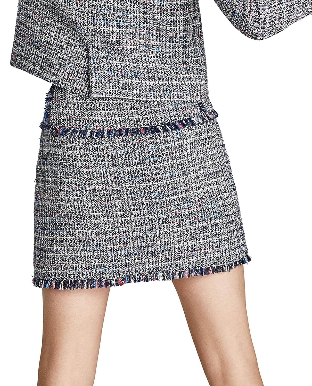 nuovo stile 23b95 c3321 Zara Women Tweed skirt with gem appliqué 7830/661 (Medium ...