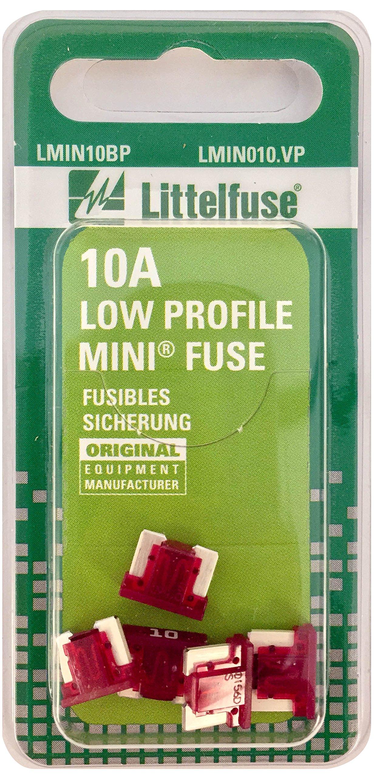 Littelfuse LMIN010.VP MINI Low Profile 10 Amp Carded Blade Fuse