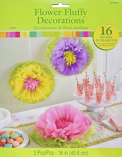 Amazon Com Amscan 180568 Spring Fluffy Party Decor Flower