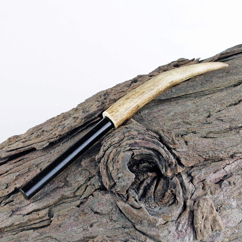 Fire steel//Ferro rod Deer Antler Handle- Camping Survival. Bushcraft