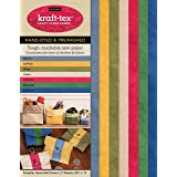 "kraft-tex Sampler Essential Colors Hand-Dyed & Prewashed: Kraft Paper Fabric, 7-Sheets 8.5"" x 11"""
