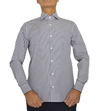 E. Meci - Camisa de Hombre Fabricada en Italia, 100% algodón ...