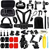 Iextreme 43-in-1 Action Camera Accessories Bundle Kit for Gopro Hero 5 4 3+/Black/Silver