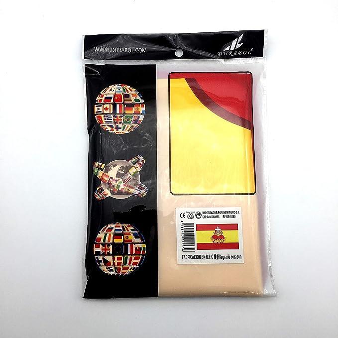Durabol Bandera de España con el Sagrado Corazón 150X90 CM Flag ...