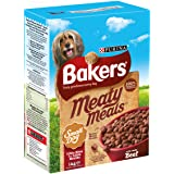 Bakers Complete Dog Food Meaty Meals Small Dog Tasty Beef, 1 kg - Pack of 4