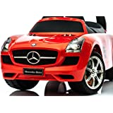 KP0231 Ride on/push along kids MERCEDES car with sound effects RED and WHITE (KP0231R RED)