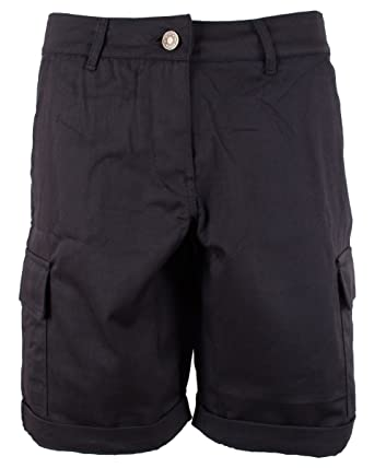 f394060a0d Noroze Women's Cotton Combat Cargo Chino Shorts: Amazon.co.uk: Clothing