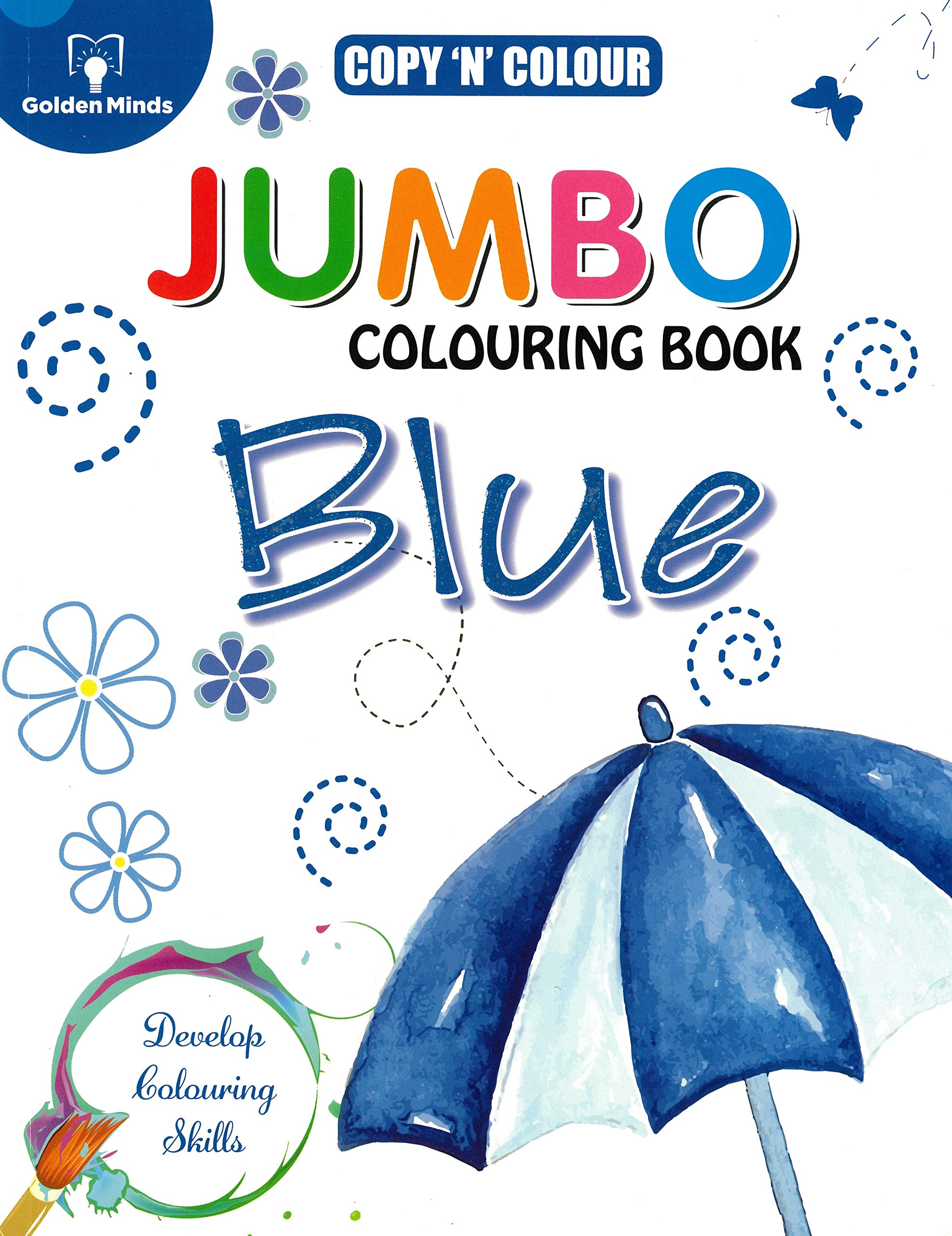 My Jumbo Colouring Book- Blue
