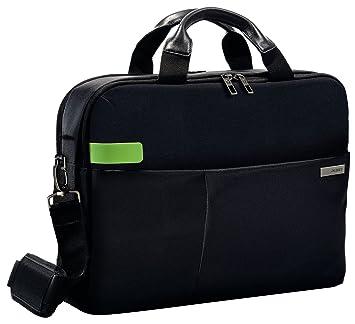 """6e8e592337 Leitz Sac pour ordinateur 15.6"""", 18 poches de rangement, Noir, Polyester  Déperlant"""