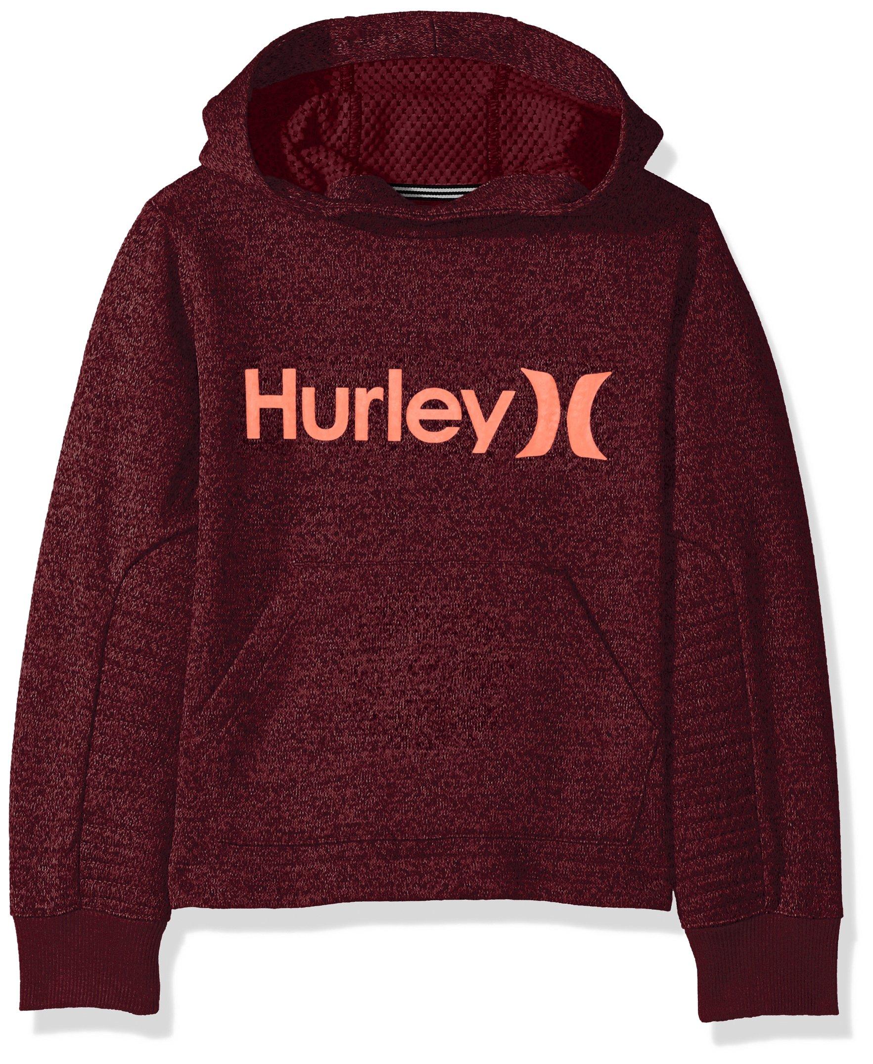 Hurley Boys' Toddler Pullover Hoodie, Deep Garnet Heather 3T