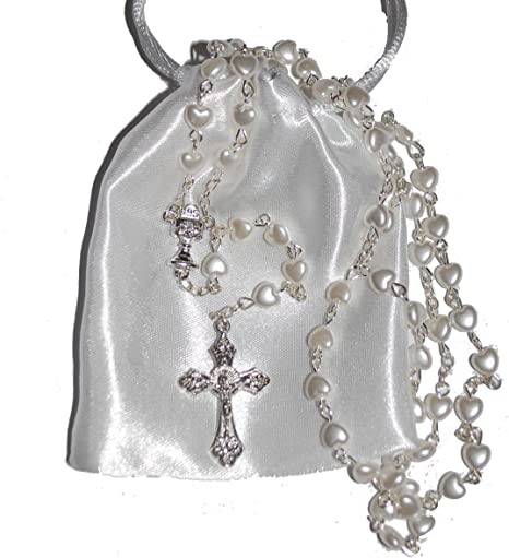 First Holy Communion Rosary Beads Rosaries Catholic Prayer Necklace UK Seller