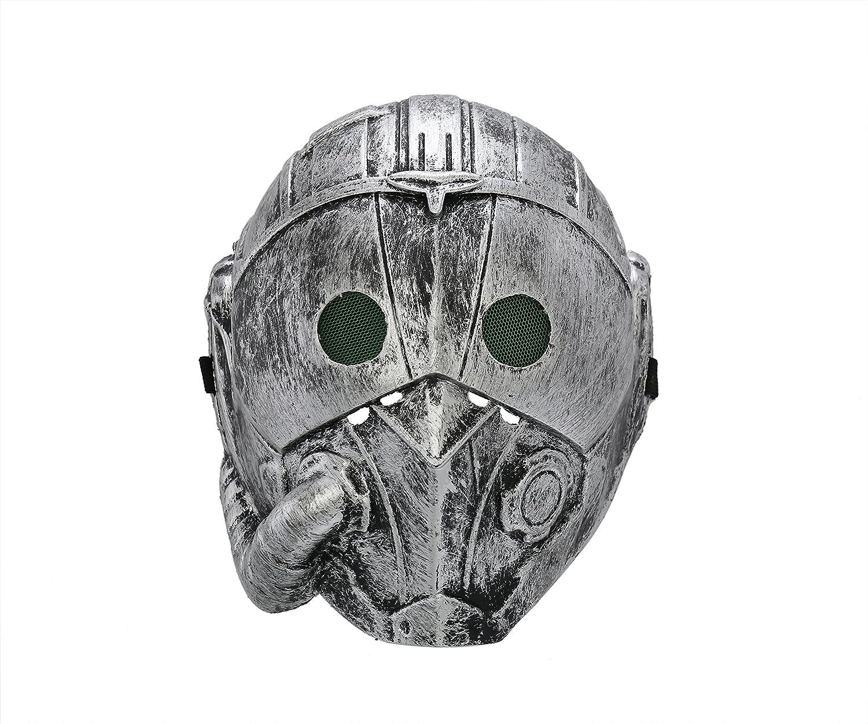 Komonee Steampunk Cyborg grigio Adult Costume Halloween Mask (Pack Of 3) (HM4)