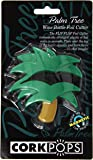 Cork Pops Wine bottle Foil Cutter, Green and Yellow Palm Tree Design