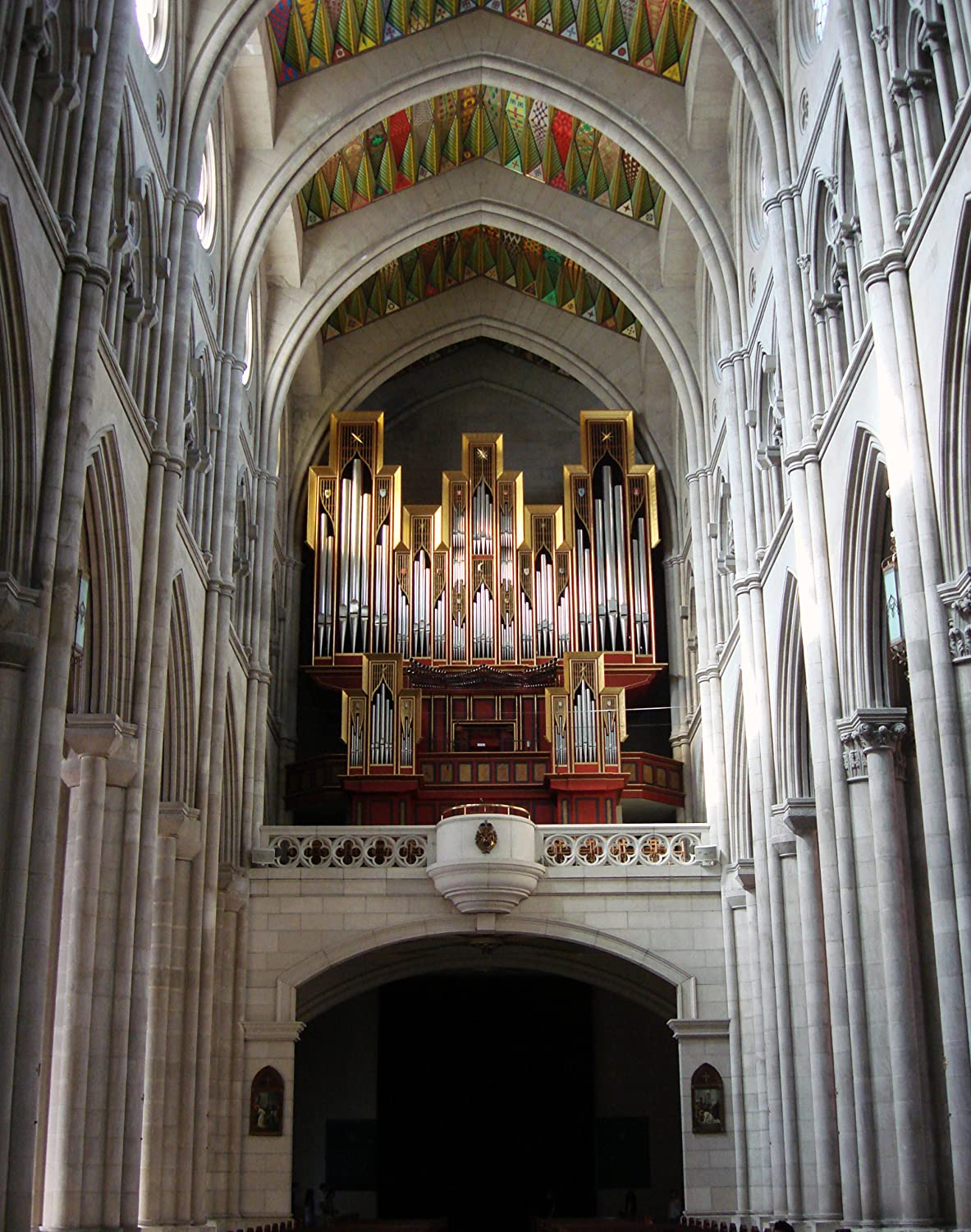 Amazon.com: Organ At Almudena Cathedral, Madrid, Spain ...