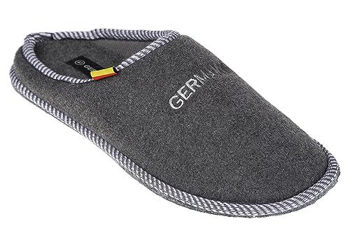 gibra - Zapatillas de estar por casa de tela para hombre, color Gris, talla 48: Amazon.es: Zapatos y complementos