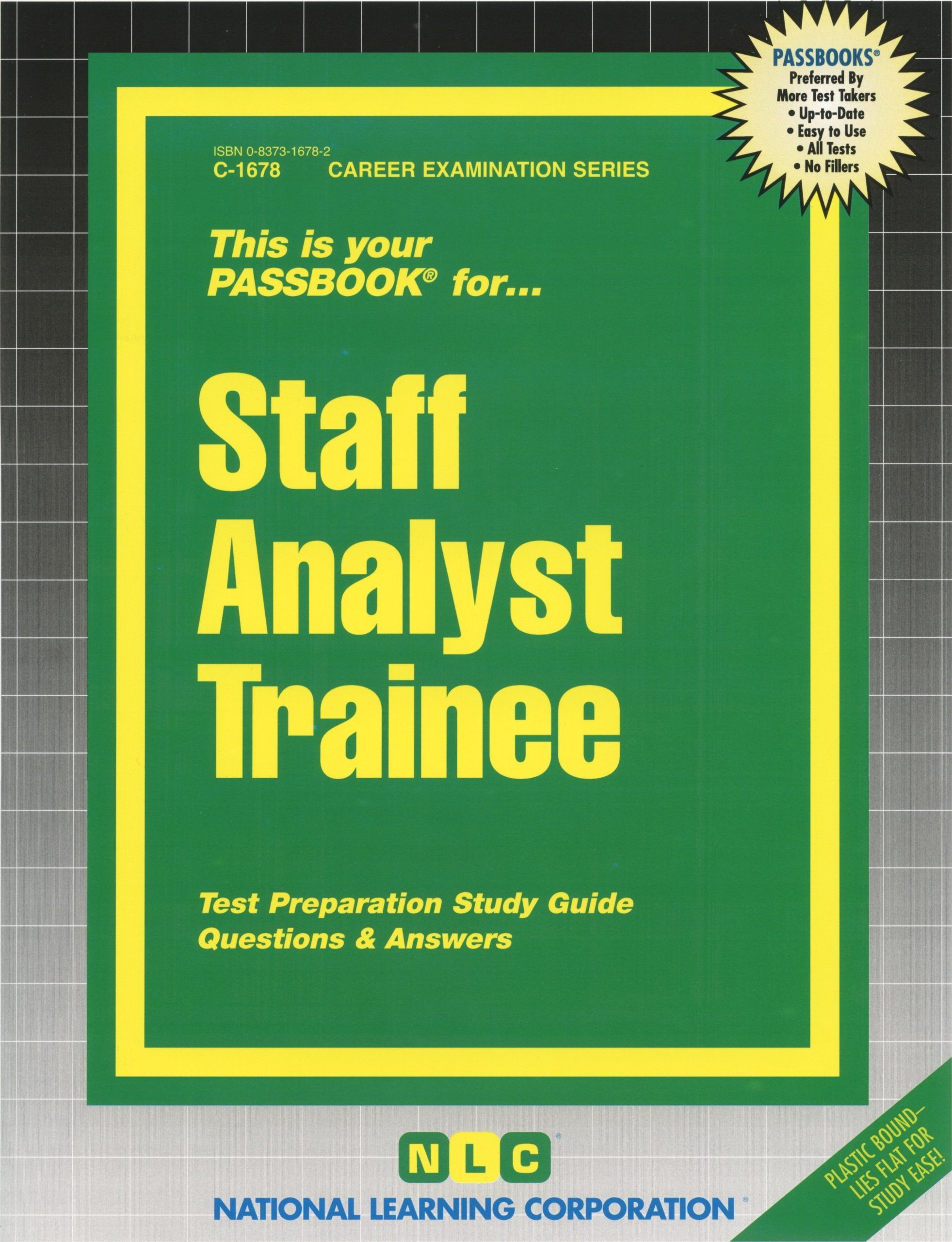 Staff Analyst Trainee (Passbooks): Passbooks: 9780829316780: Amazon.com:  Books