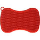 Kuhn Rikon Stay Clean Silicone Scrubber, Red