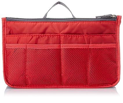 6fed0de5e7 Urban Living Nylon Bag Organizer (Red)  Amazon.in  Bags