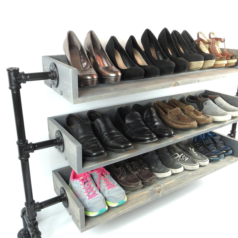 industrial pipe shoe storage shoe rack handmade shoe organizer black iron pipe entryway shoe shelving shoe stand