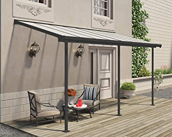 Palram - Cubierta para terraza de aluminio de alta calidad, 230 x ...