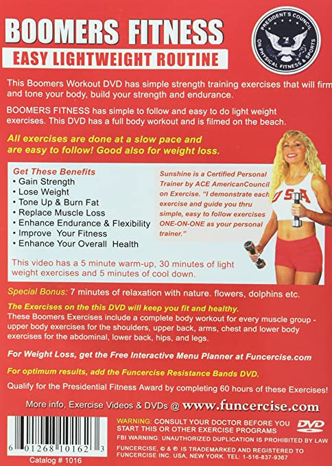 Amazon com: Boomers Exercise DVD, Easy Light Weights Workout
