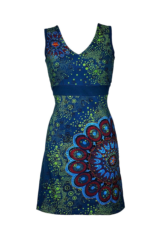 Verspieltes Sommerkleid mit Mandala Muster & bunten Stickereien - Casual Chic -