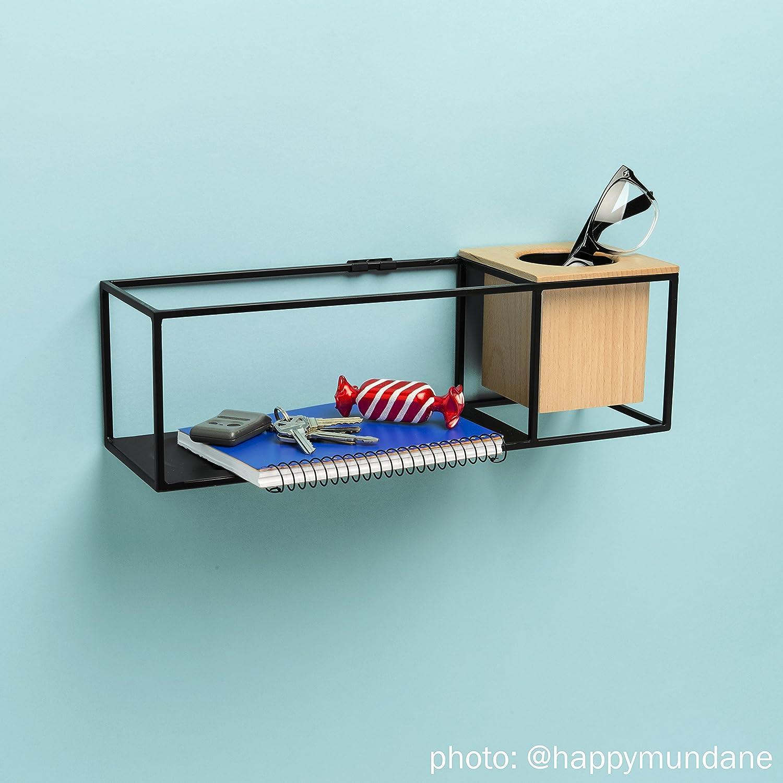Umbra Small Cubist Shelf, Black: Designed by Erika Kovesdi: Amazon ...