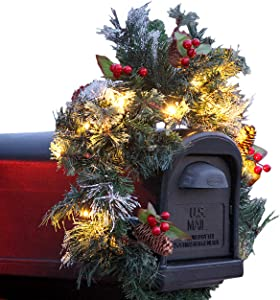 Treton Gifts Lighted Mailbox Swag