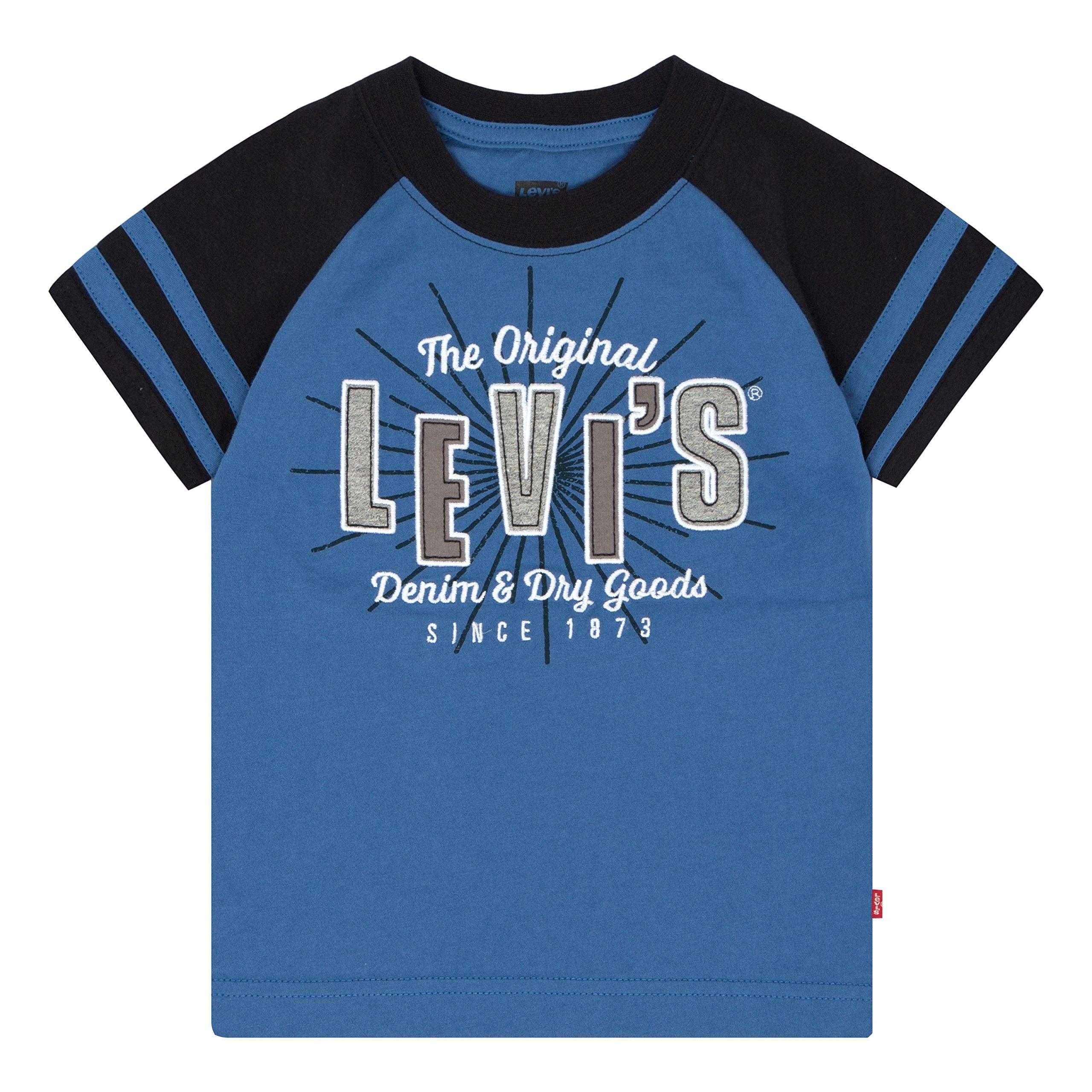 Levi's Big Boys' Applique T-Shirt, Delft, M by Levi's