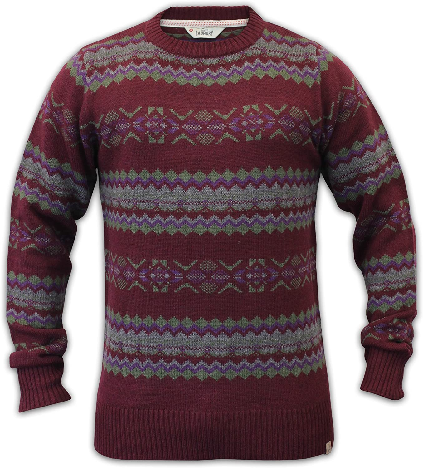Tokyo Laundry Mens Stylish Wool Mix Knitted Jumpers 1A2957