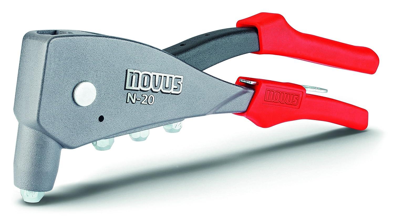 Novus Blindnietzange N-20, Einhand-Bedienung, Ergonomischer Griff, verarbeitet Alu-, Stahl- und Kupfer-Blindnieten 032-0040