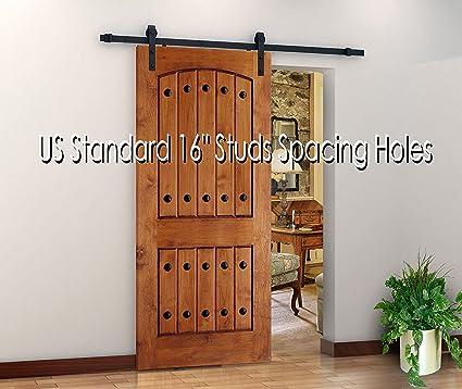 """78.7"""" Original Antique Sliding Wood Barn Door Hardware Track, Premium  Quality, Rich Dark - Amazon.com: 78.7"""