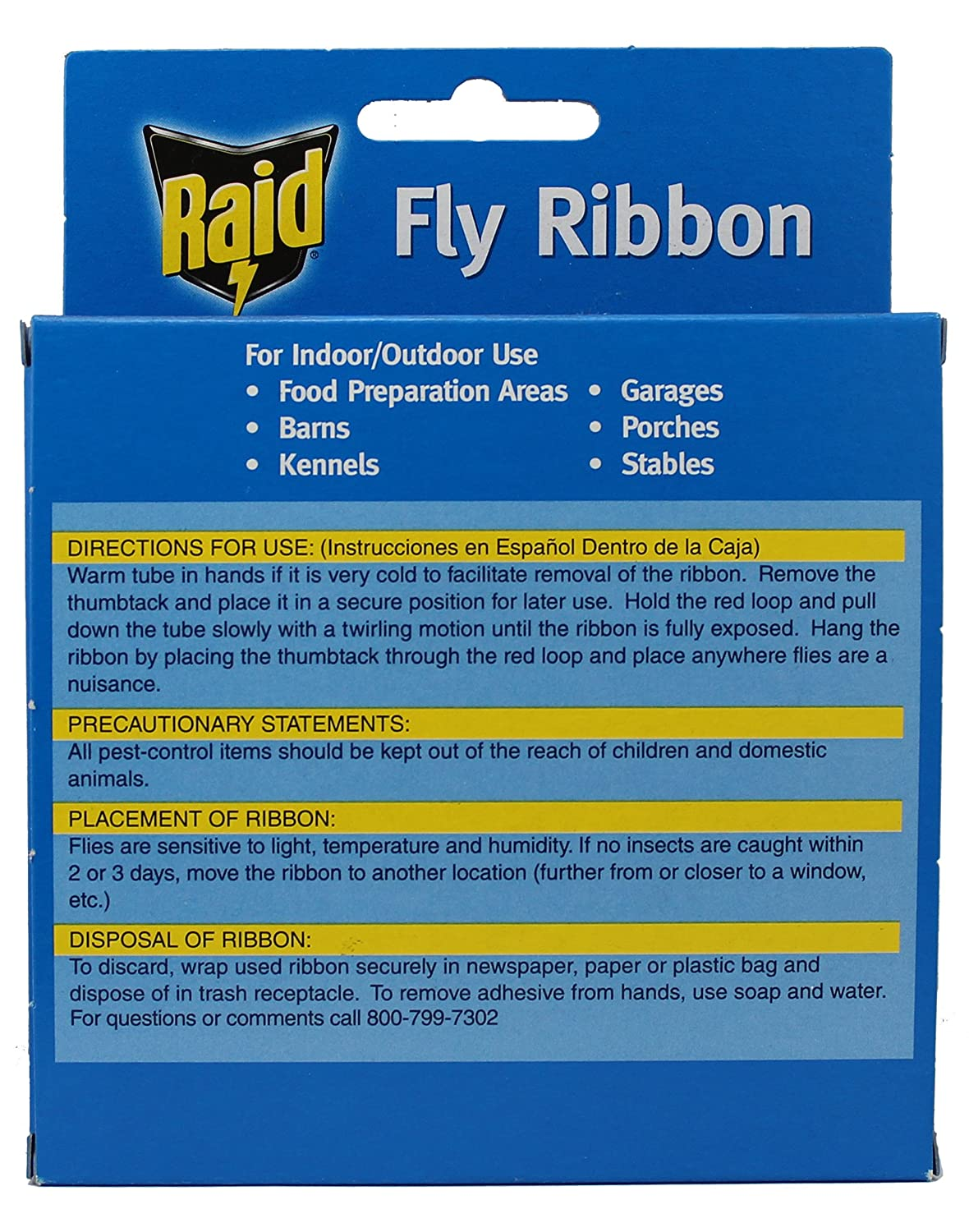 Amazon.com: Raid Fly Ribbon Bug & Insect Catcher (10 Pack): Pet Supplies