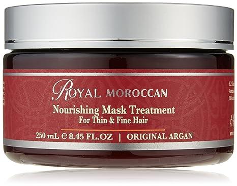 Máscara de cabello Royal Moroccan, tratamiento con vitamina E de 250 ml