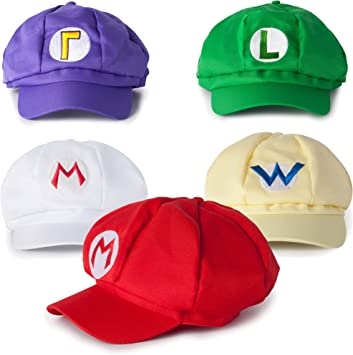 Katara - Juego de 5 Gorras Disfraz Super Mario, Luigi, Wariom ...