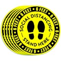 30-Pack Wishdiam Social Distancing Floor Stickers