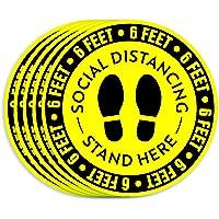 30-Pack Wishdiam Social Distancing Floor Stickers
