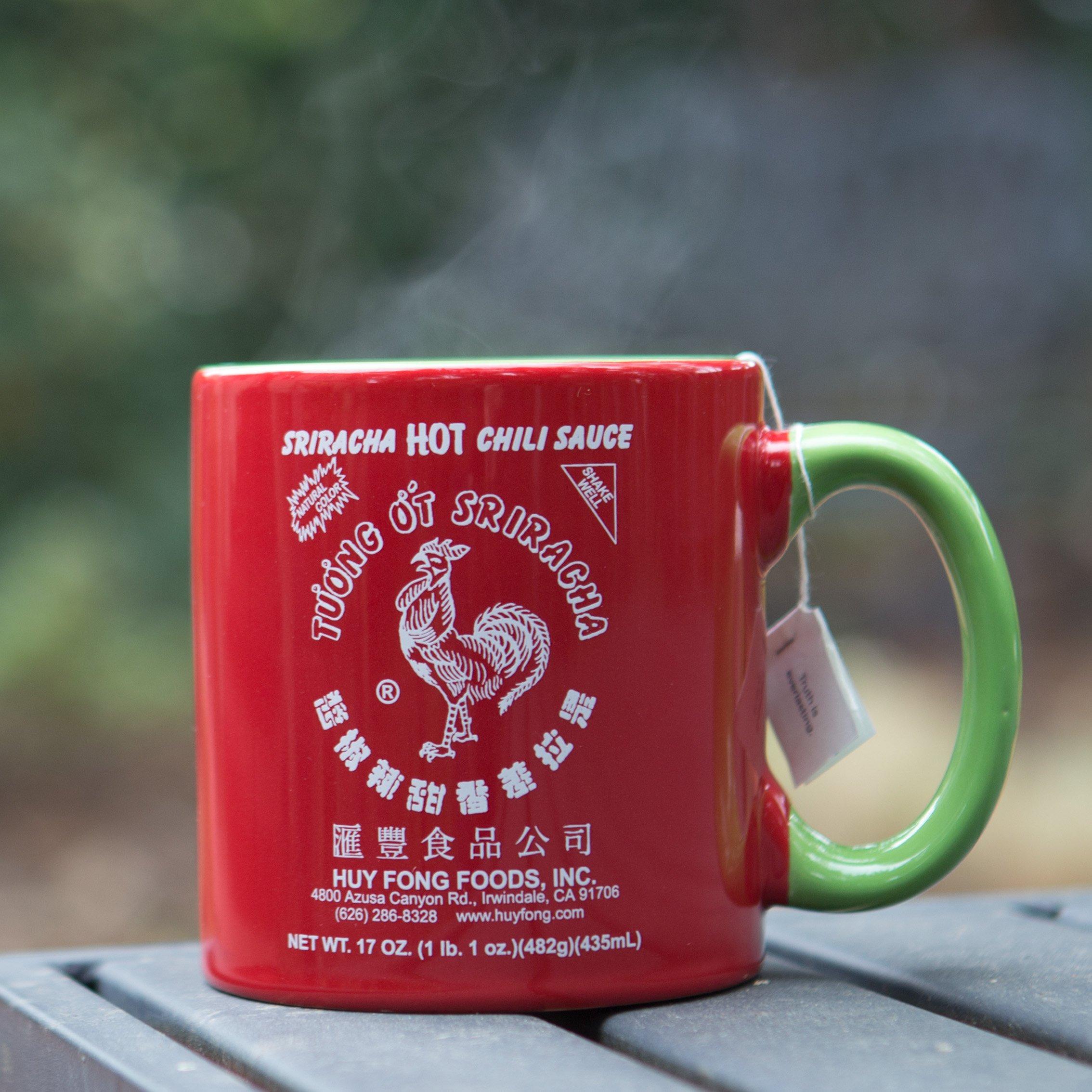 Large 20 oz Sriracha Hot Sauce Red And Green Ceramic Mug by Sriracha2Go (Image #4)