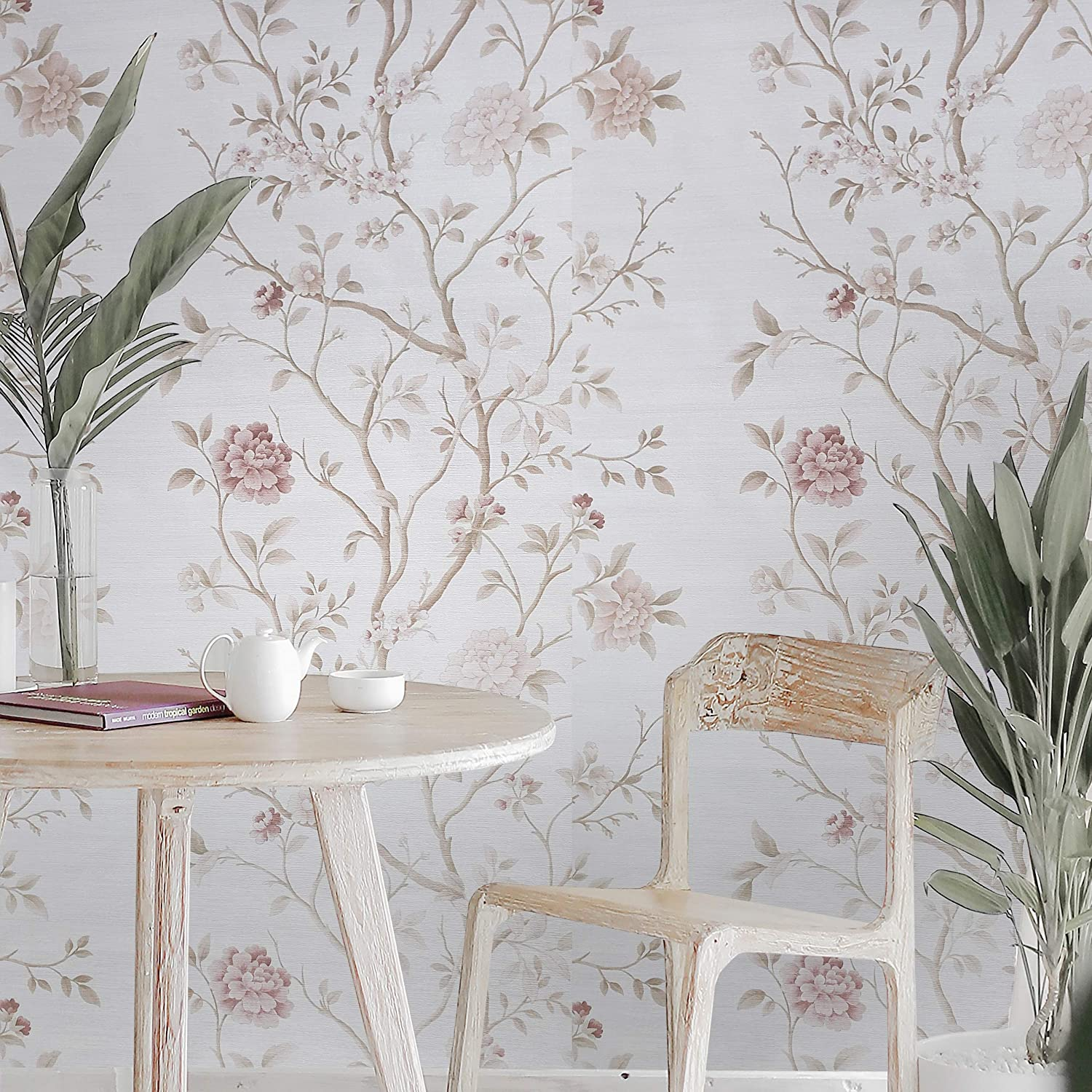 Wallcoverings Embossed Vinyl Non-Woven Wallpaper Modern Off White Beige Faux Sack Grasscloth Textured Lines coverings Paste The Wall