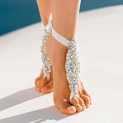 9ea52b2b75cd Bridal Barefoot Sandals
