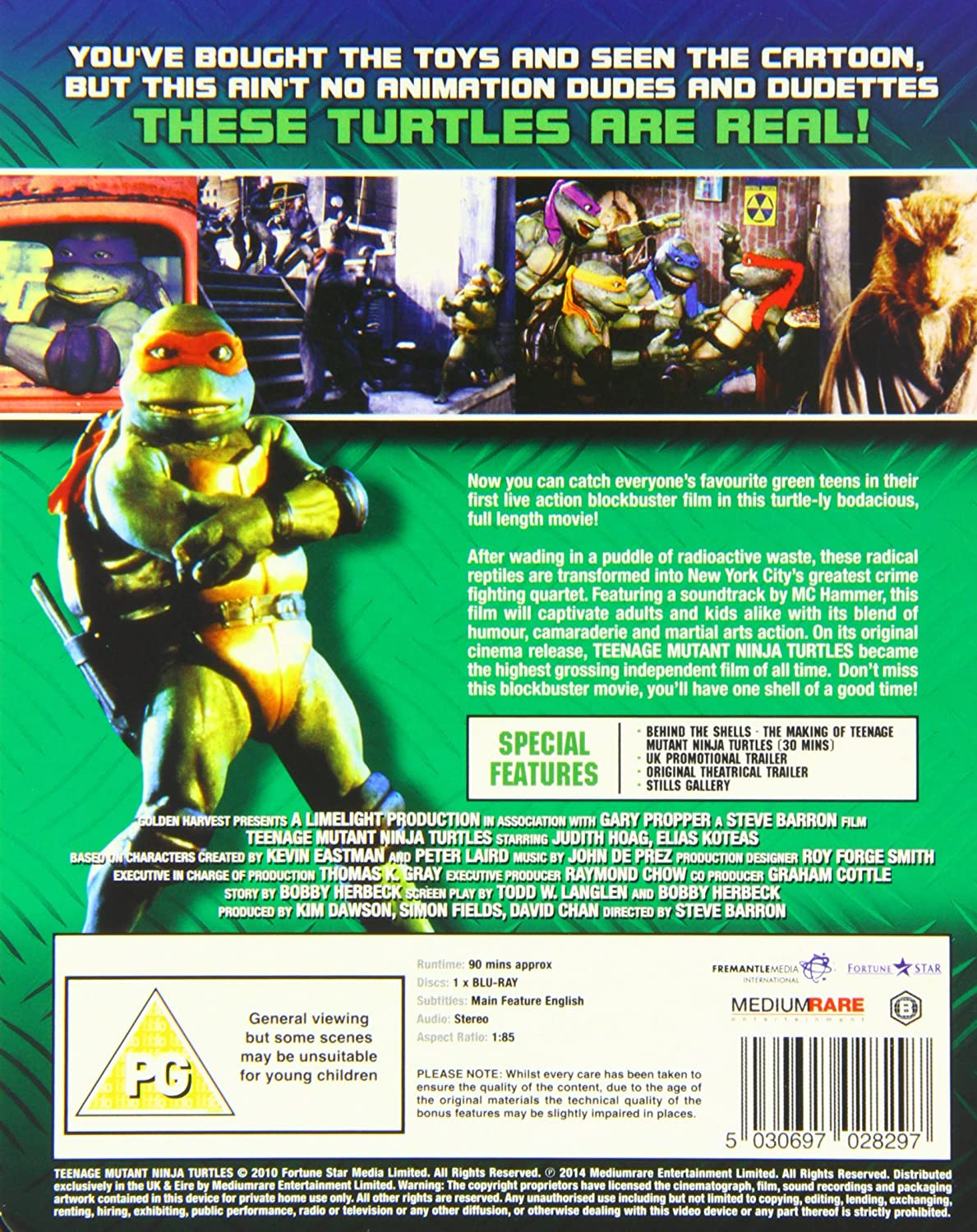 Teenage Mutant Ninja Turtles - The Original Movie: Limited ...