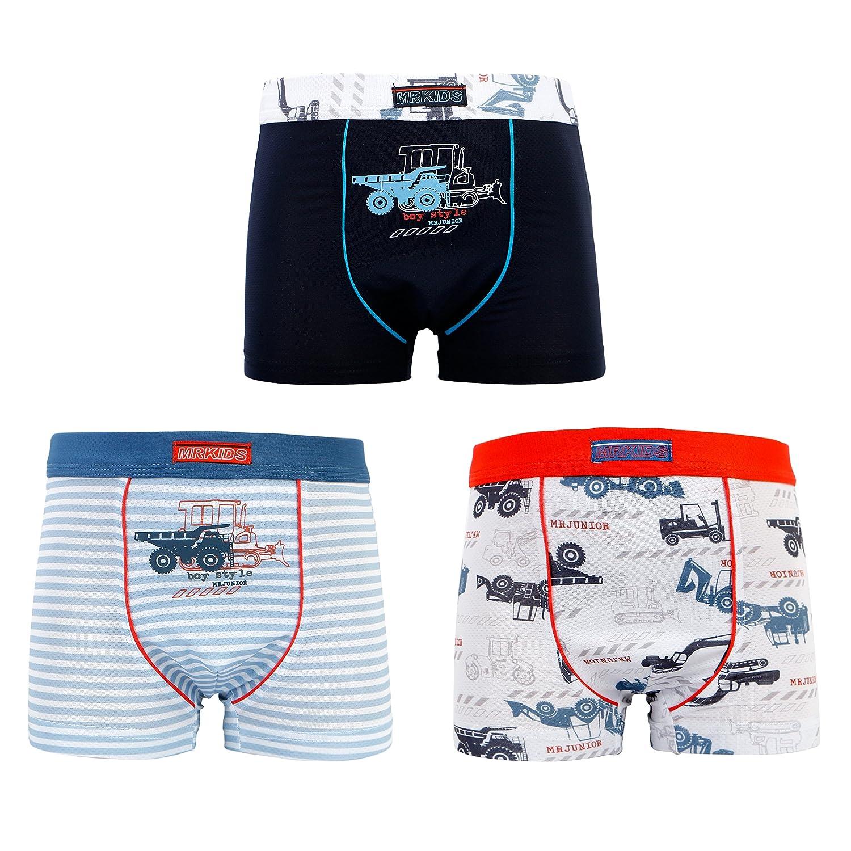 MRKIDS Cotton + Soft Tencel Toddler Little Boy's Boxer Brief Underwear (Pack of 3)